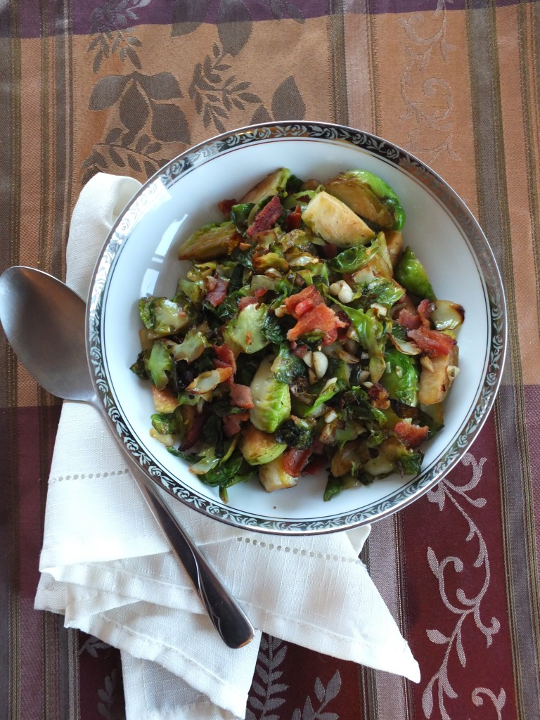 Stovetop Bacon Brussels Sprouts | Cook It Up Paleo