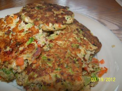 Paleo Salmon Patties with Veggies