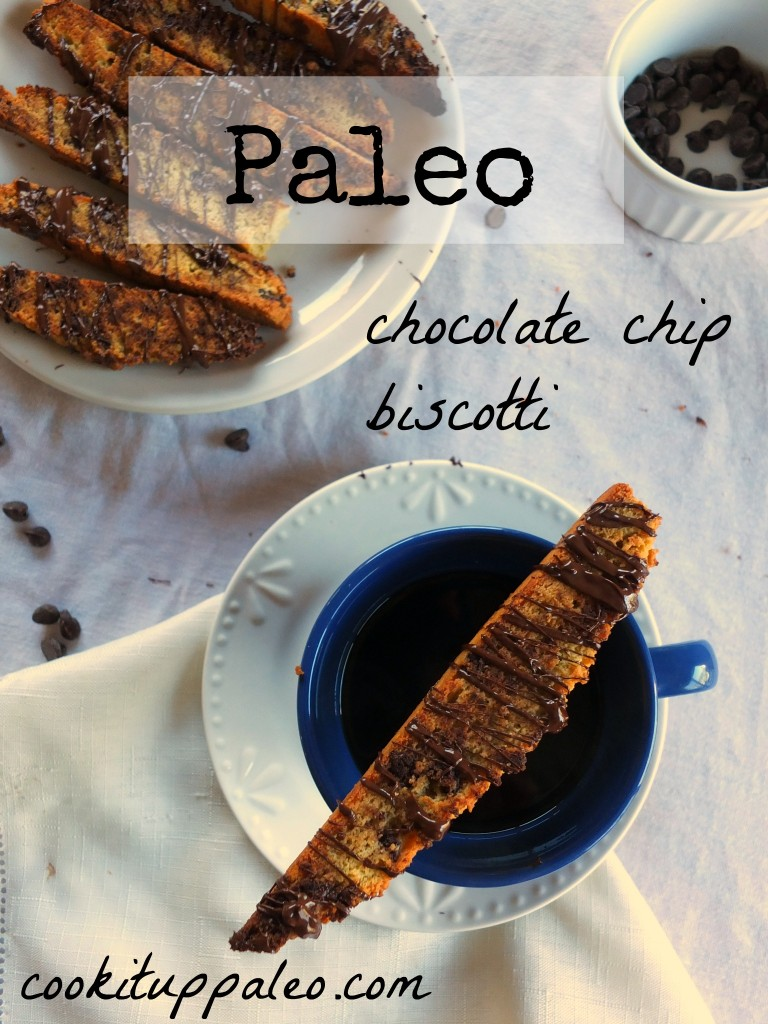 Chocolate Chip Paleo Biscotti | Cook It Up Paleo