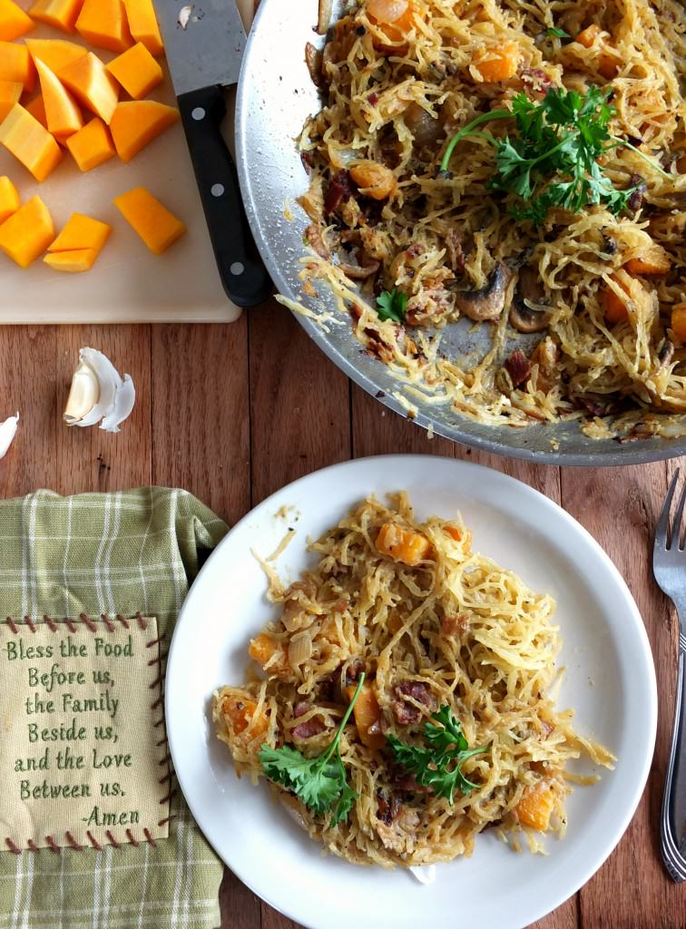 Paleo Spaghetti Squash Carbonara | Cook It Up Paleo