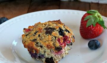 Paleo Chocolate Tripleberry Muffins - Cook It Up Paleotresized006