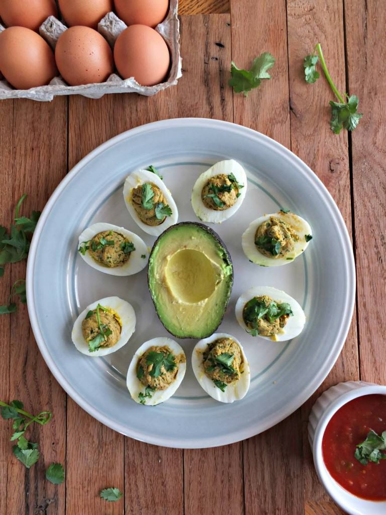Taco Spiced Paleo Deviled Eggs | Cook It Up Paleo