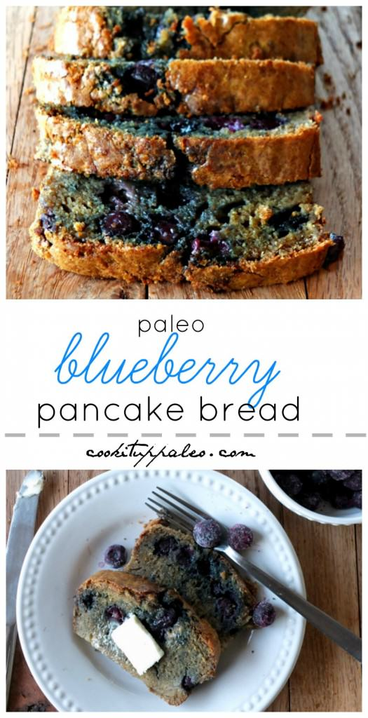 Paleo Pancake Bread with Blueberries | Cook It Up Paleo
