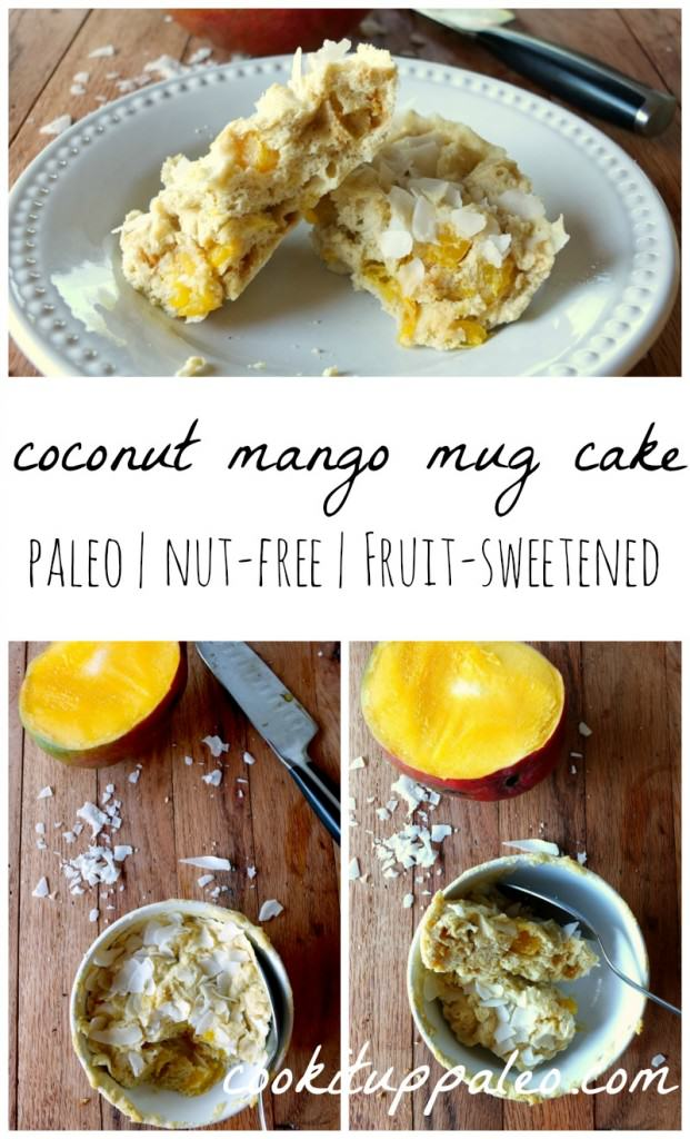 Mango Coconut Mug Cake | Cook It Up Paleo