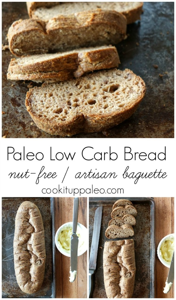 Paleo Low Carb Bread| Cook It Up Paleo