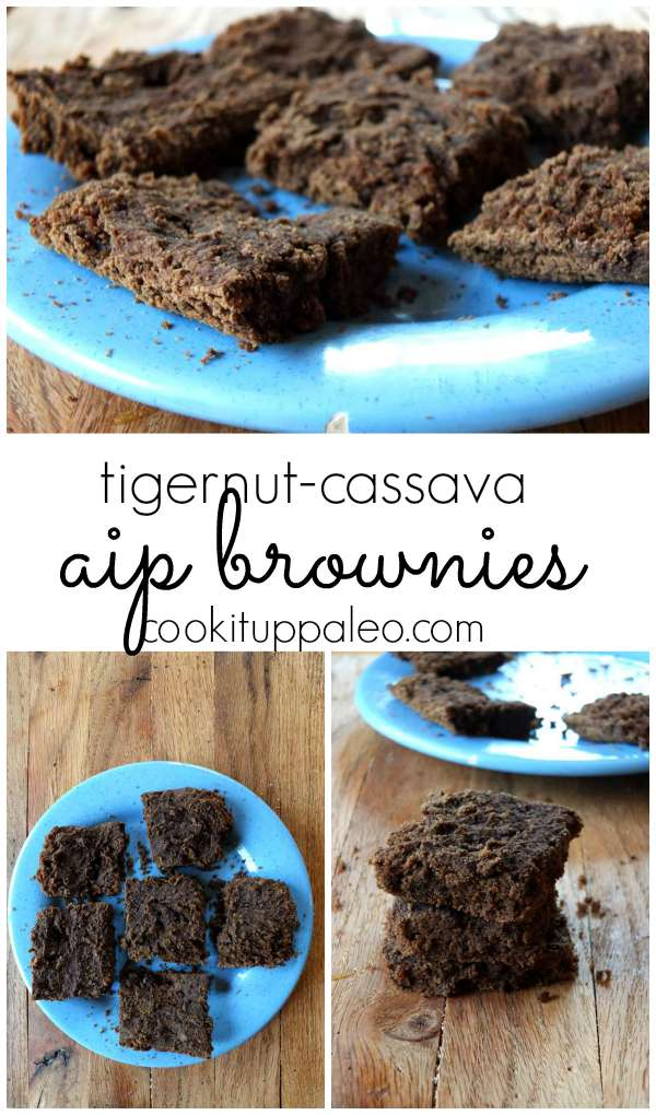 AIP Tigernut Cassava Brownies - Cook It Up Paleo