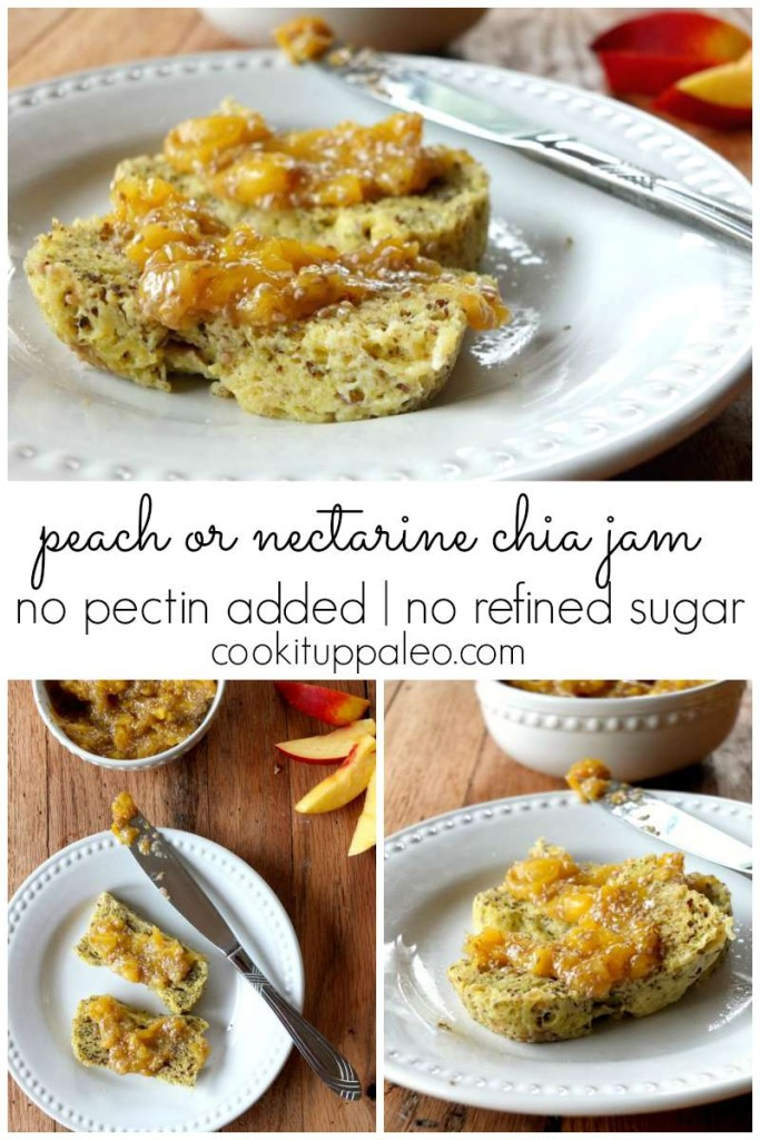 3 Ingredient Peach or Nectarine Chia Jam | Cook It Up Paleo