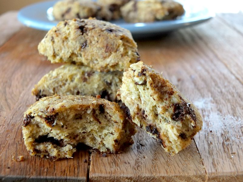 Paleo Chocolate Chip Scones (low-carb, nut-free)