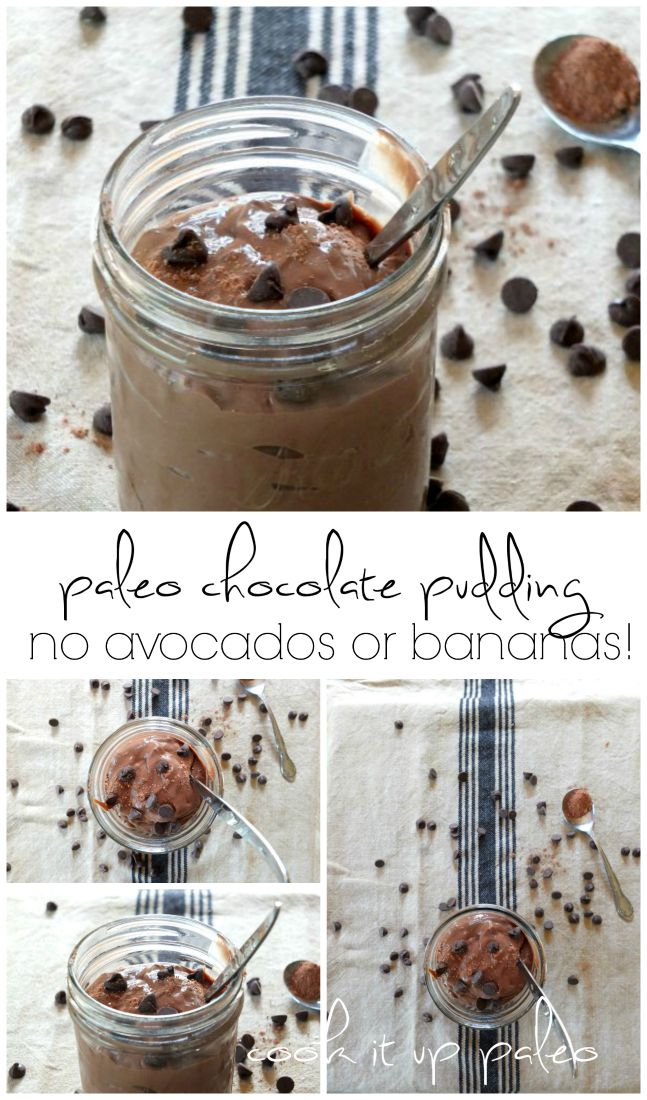 Decadent Paleo Chocolate Pudding (no avocados or bananas) | Cook It Up Paleo
