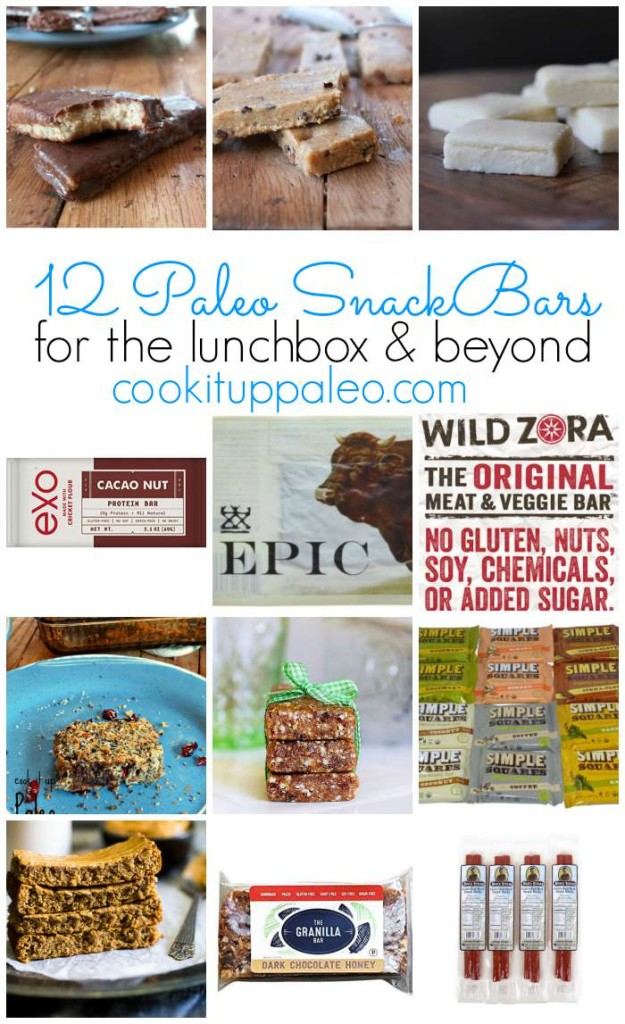 12 Paleo Snack Bars for the Lunchbox & Beyond | Cook It Up Paleo