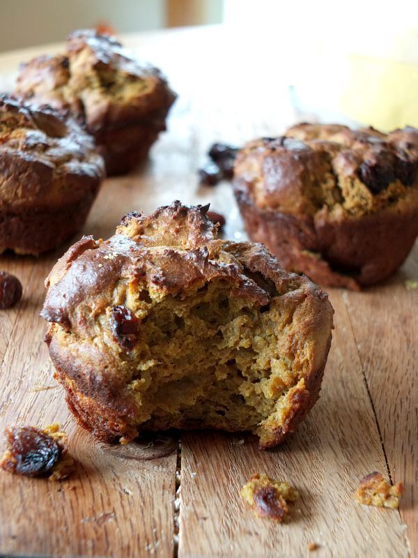 Squash Flour and Raisin Muffins (nut and coconut free) | Cook It Up Paleo