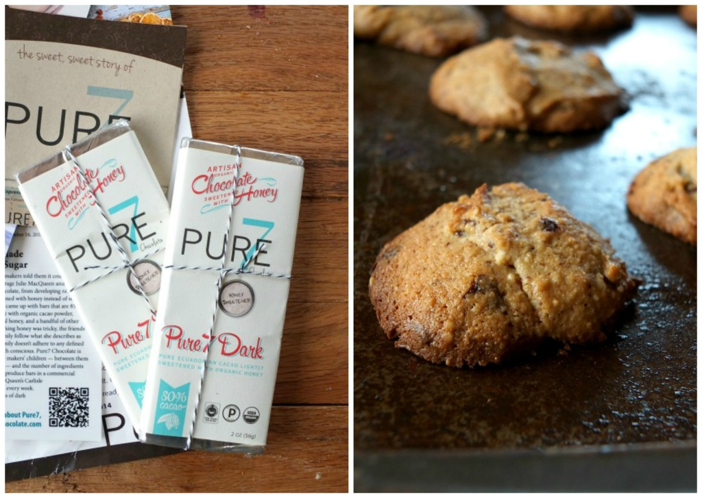 Tahini Chocolate Chip Cookies + Pure7 Chocolate Review