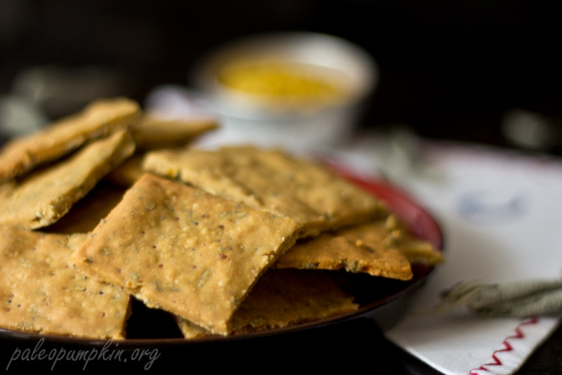 Paleo Crackers with Mustard and Sage - guest post from Irena of Paleo Pumpkin | Cook It Up Paleo