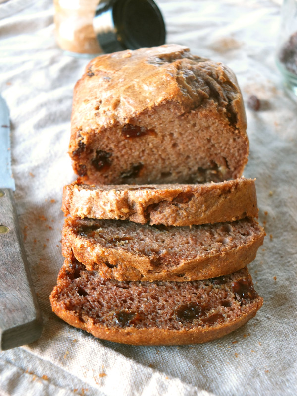 Paleo Cinnamon Raisin Bread (Mini Loaf) | Cook It Up Paleo