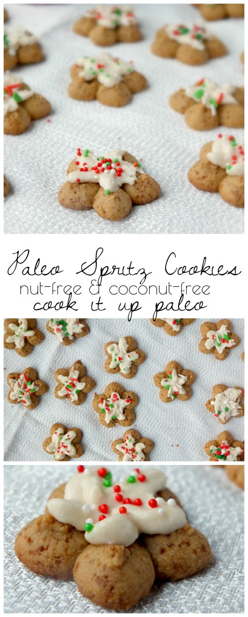 Paleo Spritz Cookies | Cook It Up Paleo