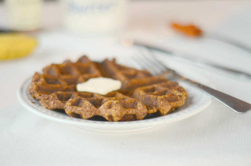 Paleo Pumpkin Waffles – nut free, single serve, 21DSD