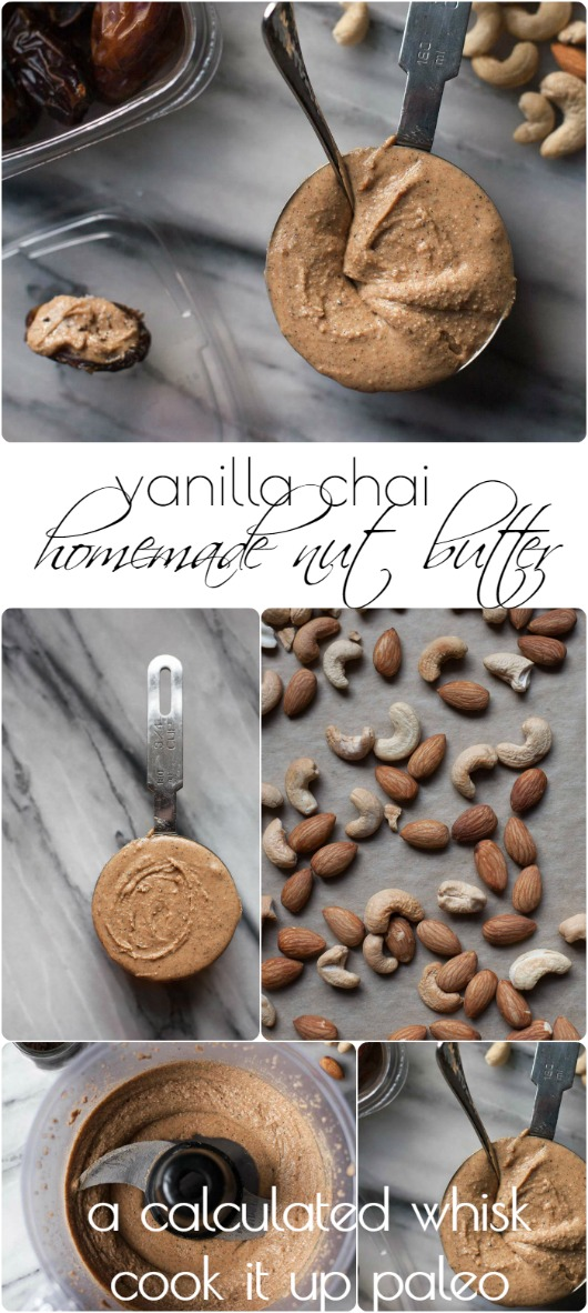 Vanilla Chai Spiced Nut Butter - guest post from Becky of A Calculated Whisk