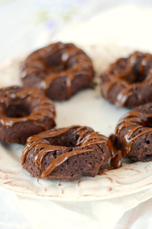 Salted Toffee Brownie Paleo Chocolate Doughnuts