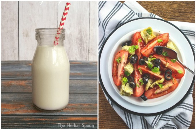 Real Food Friday #125 - Tomato Salad and Coconut Milk