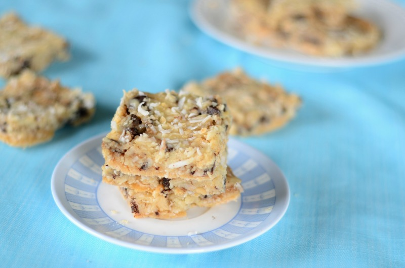 No Bake Paleo Magic Cookie Bars
