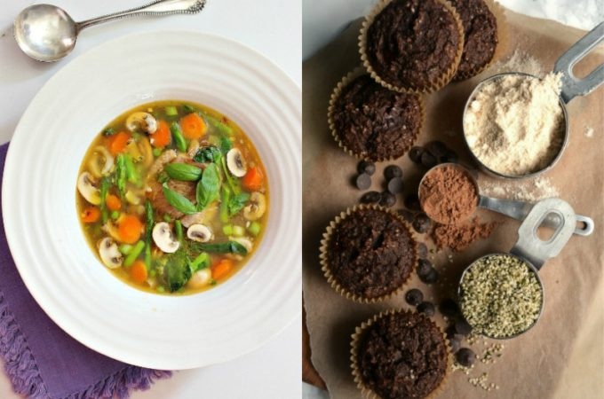 Real Food Friday #135 - Chocolate Muffins and Chicken with Veggies