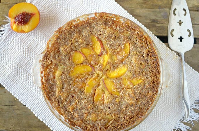 Paleo Peach Coffee Cake - Guest Post from Athletic Avocado