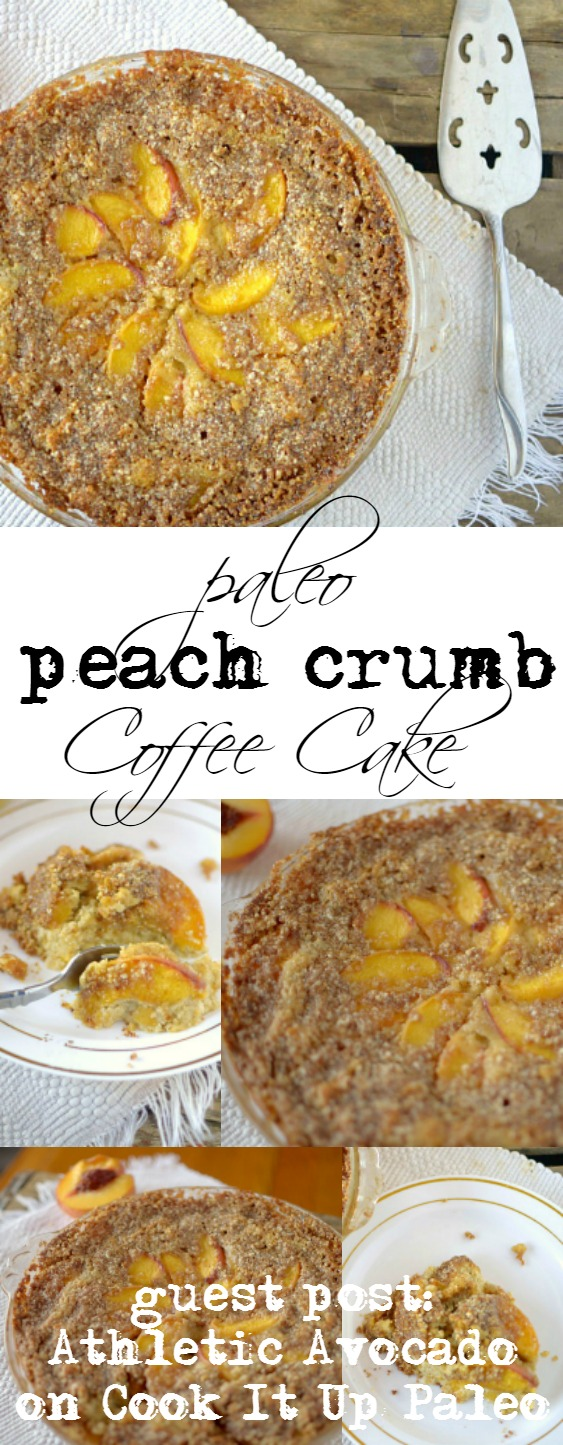 This Paleo Peach Coffee Cake makes it acceptable to eat cake for breakfast! So easy to make and made with REAL ingredients!