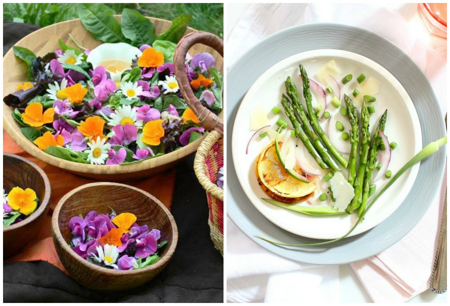 Real Food Friday #148 – Wildflower Salad and Roasted Asparagus