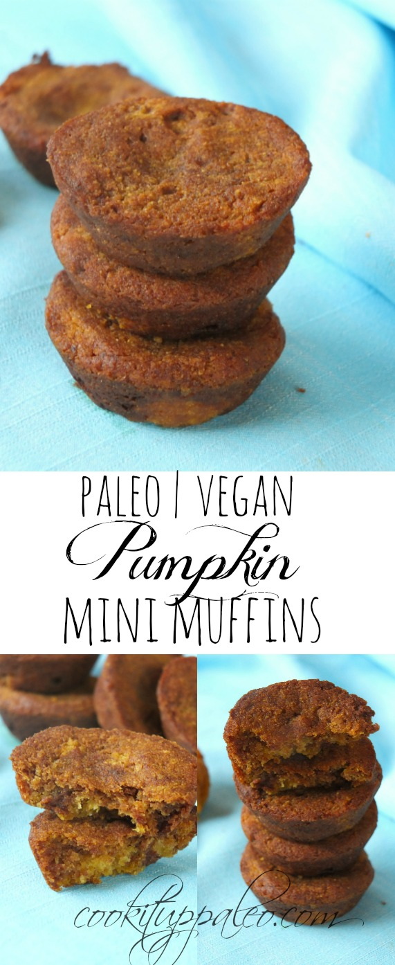 Paleo Vegan Pumpkin Mini Muffins