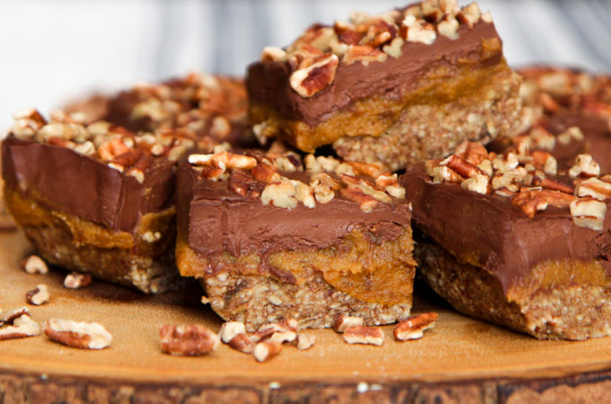 Pecan Pumpkin Caramel Bars (paleo, vegan) - guest post from Sadie Radinsky
